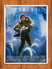 TIN-UPS Tin Sign Aliens Sigourney Weaver Vintage Movie Art Poster