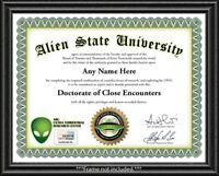 Alien Personalized Certificate - Man Cave Bedroom Bar Garage Dad Boy GREAT GIFT