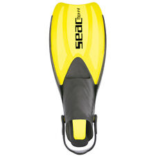 SEAC Sprint Diving Fins (Yellow, Small/Medium)