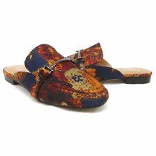 NEW $89 Franco Sarto Dalton Navy Red Floral Slip on Comfort Mules Size 7.5M