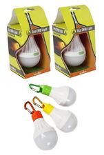 2 x Hanging Eco LED ORB Light Camping Lantern Tent Shed Light Battery Operated