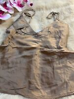 Intimissimi beige SILK Camisole Top sleepwear nightwear size M
