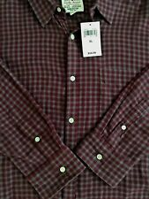 Lucky Brand Classic Fit Men's Plaid Long Sleeve Button Front Shirt Size XL NWT