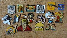 Lot de 15 pin's BD, bande dessinée, Tom et Zoé, Jo