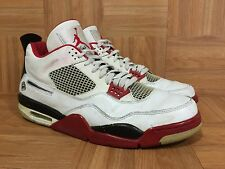 Worn🔥 Nike Air Jordan 4 IV Retro Mars Blackmon White Red Black Sz 13 308497-162