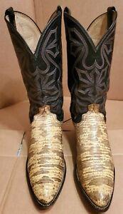 Dan Post Natural Lizard Cowboy Boots 12 D