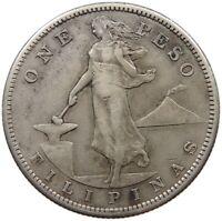 PHILIPPINES US PESO 1911 S RARE #t135 551