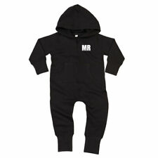 Personalised Baby Toddler Hooded All in One Romper Loungewear with initials gift
