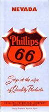 1957 Phillips Road Map: Nevada NOS