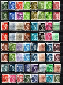 British stamps regional mixed Machin collection all different super mix gb.