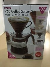 HARIO coffee server V 60 02 set coffee drip 1 to 4 cups Brown VCSD-02CBR
