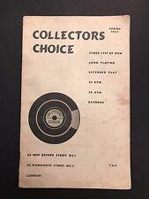 collectors choice 1957 lp 45 und 78 die bestandsliste records