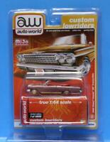 AUTO WORLD CP7739 1:64 2021 / 1962 CHEVY IMPALA SS CONVERTIBLE ULTRA RED