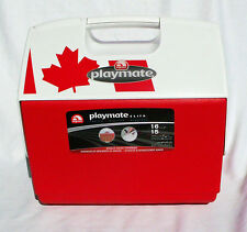 Igloo Elite Playmate Red Cooler with Maple Leaf / Canada Flag Design -16 Qt