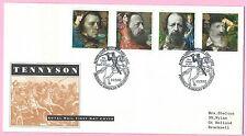 Royal Mail FDC 1992-Tennyson-SHS penisola Caserma, Winchester