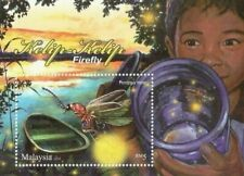 Malaysia 2010 Insect Firefly Bug Unique Unusual Glitter Miniature sheet