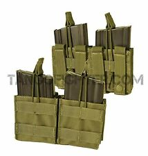 CONDOR MA24 7.62 NATO 308 MOLLE Rifle Double Magazine Pouch pull tab OD