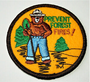 1971 Style Smokey The Bear Prevent Forest Fires! Cloth Patch New NOS
