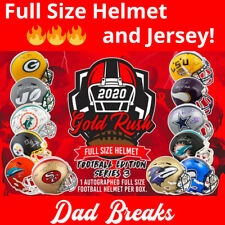 GREEN BAY PACKERS signed/autographed Gold Rush FULL-SIZE HELMET and Jersey BREAK