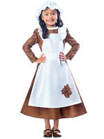 Girls Victorian Maid Girl World Book Day Week Fancy Dress Costume Outfit 3-10yrs
