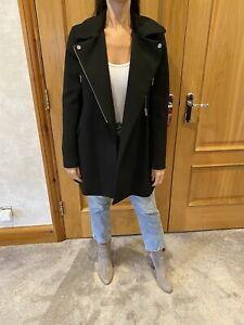 Zara Black Tailored Coat/M