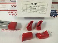 """(10/BOX) Shallow Red Safety End Caps for Unistrut Channel 13/16"""" #4882R P2860-33"""