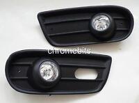 FOG LIGHTS LAMPS GRILLE SET FOR VW TRANSPORTER T4 1996-2004 NEW