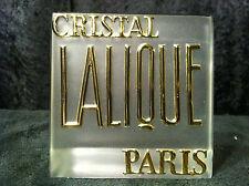 Vintage Lalique Store Display Sign Mint