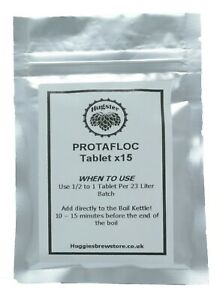 Protafloc - Whirlfloc Tablet - Kettle Fining for Clearing Home Brew - Carrageena