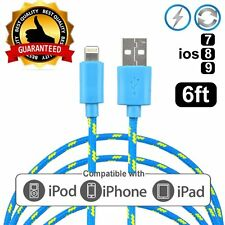 Certified for Apple iPhone 6S Plus 5S Lightning Charger Cable Braided 2M