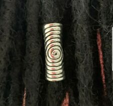 3 spiral dread beads  - cute dreadlock beads dreads 6 mm hole