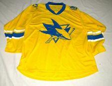 San Jose Sharks Yellow Zoom Ice Hockey Sweater Size Mens M New