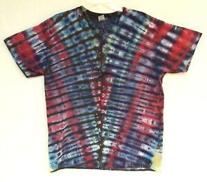 Handmade Unisex L Ice Tie Dye T-Shirt Gildan Crew Short Sleeve 100% Cotton