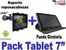"""PACK FUNDA GIRATORIA PARA TABLET ACER ICONA B1-720 7"""" + SOPORTE REPOSACABEZAS"""
