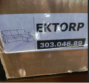 Original SLIPCOVER for IKEA EKTORP Loveseat w/ Chaise, Videslund Multicolor, NEW