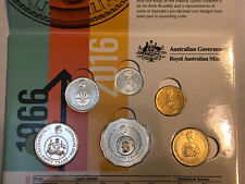 """RAM 2016 """"Decimal Changeover"""" Coin Set - 6 Coins - In Folder (Circulated)"""