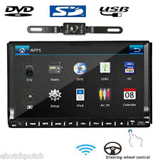"GPS Double HD 2Din 7""In Dash Stereo Car DVD CD Player Touch Screen Radio iPod BT"