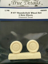 True Details P-47 Thunderbolt Diamond Tread Wheel Set Resin TD48009