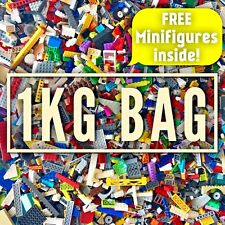 LEGO Bundle 1kg Mixed Bricks Parts Pieces Minifigures + Accessories Job Lot Set