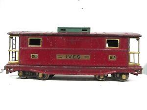 Ives # 195 Lionel Transition Standard Gauge Caboose Prewar Train Railway B44-26