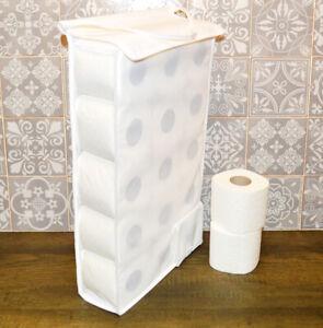 Large Hanging Toilet Roll Holder Storage bathroom fabric storage dispenser