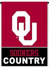 Oklahoma Sooners COUNTRY 2-sided GARDEN Window Flag NO POLE Banner University of