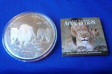 Rare! 10 Troy oz. Republic of Congo African Lion 2016 .999 Silver Coin Round
