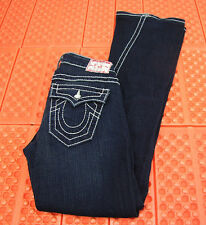 True Religion Womens Boot Cut Flare Jeans Size 29 Low Rise 26X32 Destroyed
