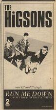 26/2/83PN46 ADVERT: THE HIGSONS SINGLE RUN ME DOWN 7X3.5