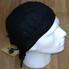 Plain Black Fitted Bandana Zandana DuRag Head Wrap Scarf Easy Tie Cotton Chef