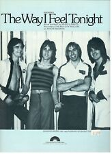 """THE BAY CITY ROLLERS """"THE WAY I FEEL TONIGHT"""" SHEET MUSIC-1977-RARE-NEW ON SALE!"""