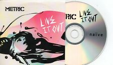 CD MetricLive It Out French Promo CDR album CARD SLEEVECDFrance