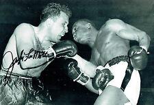 Jake LAMOTTA Signed Autograph Boxing 12x8 Raging Bronx BULL Photo AFTAL COA