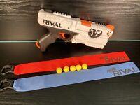 Nerf Rival XVIII-500 Kronos White Blaster Gun With x5 Balls & Red & Blue Flags!